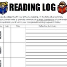 Reading Log and Vivacious Vocabulary