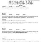 Reading Logs - Pack #1 - Entire Semester's Worth