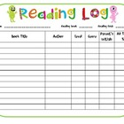 Reading Logs - monster theme