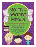 Reading Menu-Independent & Differentiated- Homework, Class