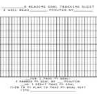 Reading Minutes Goal Tracking Sheet