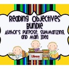 Reading Objectives Bundle {Summarizing, Main Idea, Author'