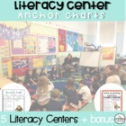 "Reading Posters- Anchor Charts- Reading ""Centers"" (Bubble Border)"