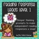 Reading Response Leads with Checklist, Example, & Rubric L