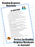 Reading Response Questions for Reading Notebook