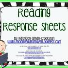 Reading Response Sheets for Students