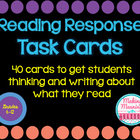 Reading Response Task Cards (FICTION) for Secondary