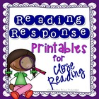 Reading Response Through the Year, ANY Text, Fiction & Non