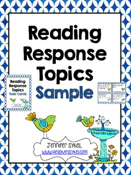 Reading Response Topics, Write About Your Reading
