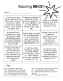Reading Strategies BINGO