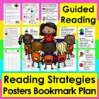 Reading Strategies Bookmark &amp; Large Focus Cards for Guided