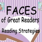 Reading Strategies Bulletin Board - FACES of Great Readers