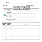 Reading Strategies Coding Sheet