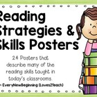 Reading Strategies & Skills Posters- 20 posters included!