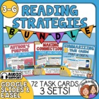 Reading Strategies Task Cards: Author&#039;s Purpose, Connectio