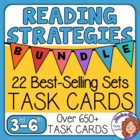 Reading Strategies Task Cards Mega Bundle: 21 Sets! Over 6