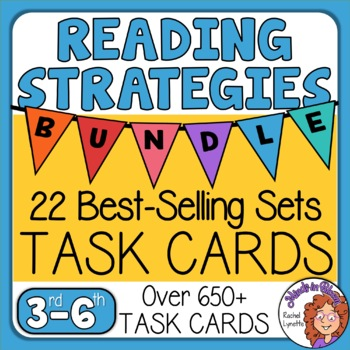 Reading Strategies Task Cards Mega Bundle: 21 Sets! Over 600 Paragraph Cards
