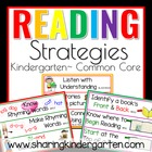 Reading Strategies for Kindergarten Common Core