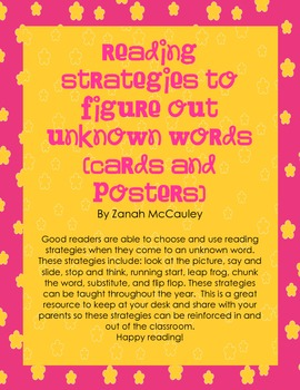 Reading Strategies to Solve Unknown Words