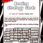 Reading Strategy Cards - 1&amp;2  Grade Zebra