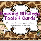 Reading Strategy Cards and Tools Animal Print {A Comprehen