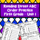 Reading Street ABC Order Practice - 1st Grade Unit 1