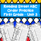Reading Street ABC Order Practice - 1st Grade Unit 3 Spell