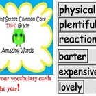 Reading Street Common Core 3rd grade Vocabulary Amazing Words