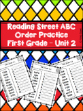 Reading Street - First Grade Unit 2 ABC Order Practice