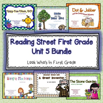 Reading Street First Grade Unit  5 Bundle