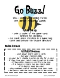 Reading Street Unit 2 High-Frequency Words Go Buzz (like Go Fish)