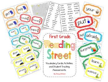 Reading Street Vocabulary Cards and Assessments