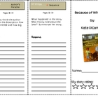 Reading Street&#039;s Because of Winn-Dixie Comprehension Trifold 