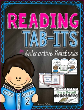 Reading Tab-Its for Interactive Notebooks - Grade 2