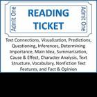Reading Ticket -Reading Comprehension Skills &amp; Strategies