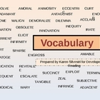 Reading Vocabulary PPT for High School
