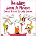 Reading Warm Up Phrases Dolch First Grade level