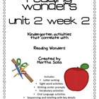 {Reading Wonders: Unit 2, Week 2} Reading Activity Pack