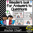 "Reading Workshop Anchor Chart - ""Readers Look for Answers"