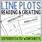 Reading and Creating Line Plots With Fractions {Leveled Wo