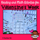 Reading and Math Activities for Valentine's Week