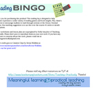 Reading bingo reading log (with Dewey Decimal reading log)