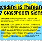 Reading is Thinking Classroom Signs (7)