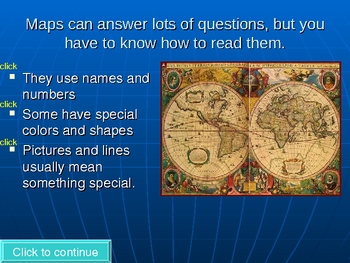 Reading maps PowerPoint lesson