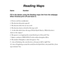 Reading maps quiz