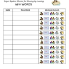 Reading monitoring for meaning log- words I didn&#039;t know