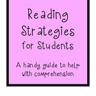 Reading strategies summary sheet for students
