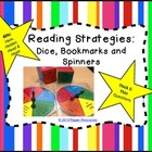 4H Reading strategy dice, bookmarks and spinners