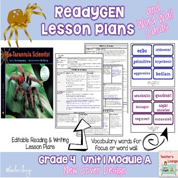 ReadyGen Lesson Plans Unit 1 Module A  - Word Wall Cards - EDITABLE -Grade 4