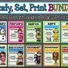 Ready, Set, Print BUNDLE: Math and Literacy Printables